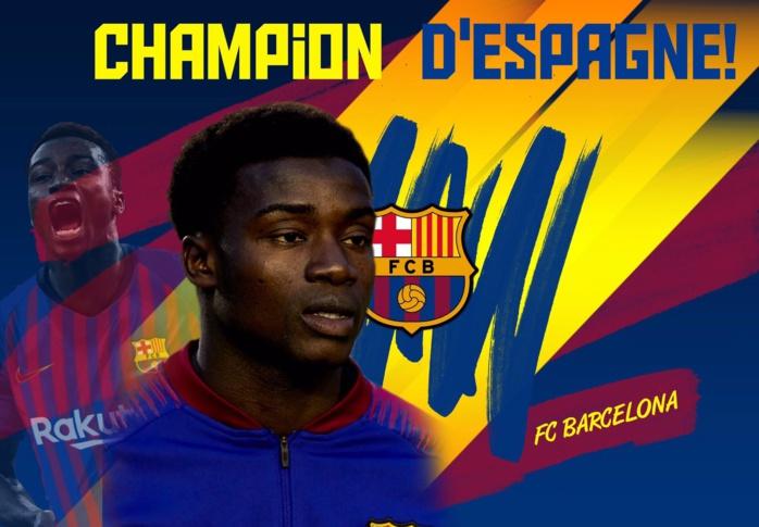 Espagne / Le FC Barcelone est champion, Moussa Wagué couronné.