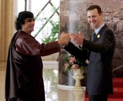"""""""Kadhafi, c'est fini, Bachar, c'est à ton tour"""""""