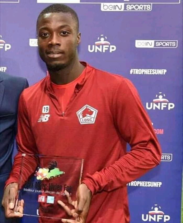 Prix Marc-Vivien Foé : Le Lillois Nicolas Pépé désigné meilleur joueur Africain de la Ligue 1