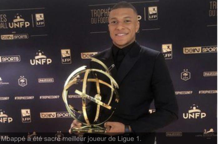 Trophées UNFP 2019 : Kylian Mbappé devient le premier joueur sacré meilleur espoir / meilleur joueur de la Ligue 1