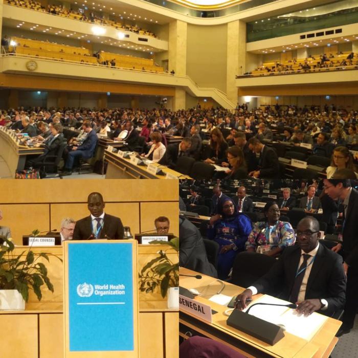 72ème Assemblée Mondiale de la Santé : «Une approche globale et concertée pour relever les défis de l'accès aux médicaments et vaccins de qualité» (Abdoulaye Diouf Sarr)