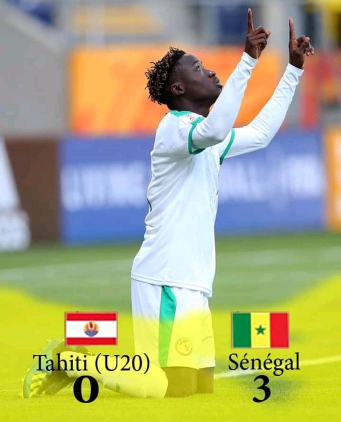 Mondial U20 / Sénégal – Tahiti : Les « lionceaux » s'imposent 3-0 grâce à un triplé d'Amadou Sagna.