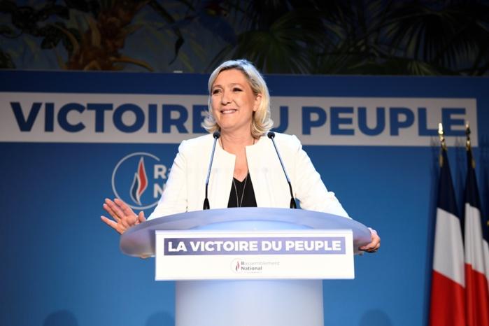 Européennes 2019 : arrivée première, Marine Le Pen appelle Macron à tirer les leçons d'un « désaveu démocratique »