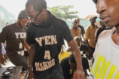 """Fadel Barro, Porte-parole du mouvement """"Y en a marre"""": «Ce sont des responsables du PDS qui ont facilité ma rencontre avec d'autres Sénégalais de la diaspora.»"""
