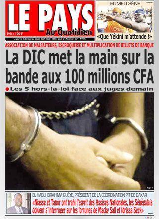 """Dernière minute: Serigne Saliou Samb en ce moment à la DIC à cause de la """"une"""" de ce jour du journal Le Pays"""