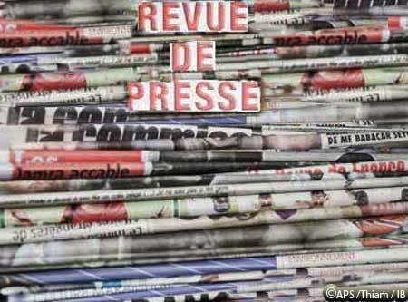Divers sujets à la une de la presse quotidienne
