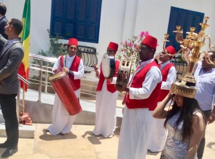 Les Lions ont rejoint leur camp de base de l'hôtel Tiba Rose, dans la périphérie du Caire
