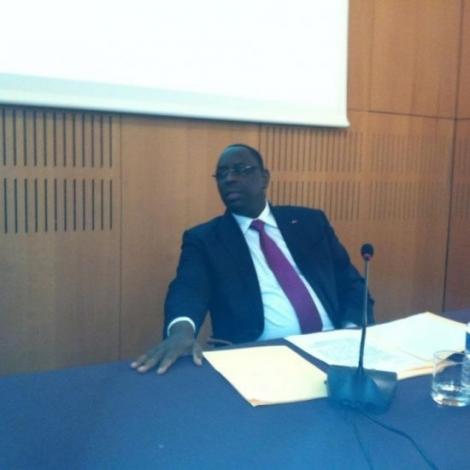 Audio - Macky Sall en Conférence  à l'IFRI ( Institut Français des Relations Internationales )