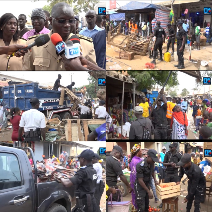 Opérations de désencombrement des avenues Avenue Blaise Diagne- Rond –Point Médina vers le Marché Tilène ce mercredi