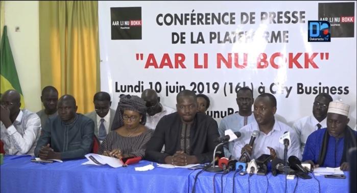 Interdiction des manifestations de l'opposition : La plateforme « AAR LI NU BOKK» demande des explications au Préfet de Dakar.