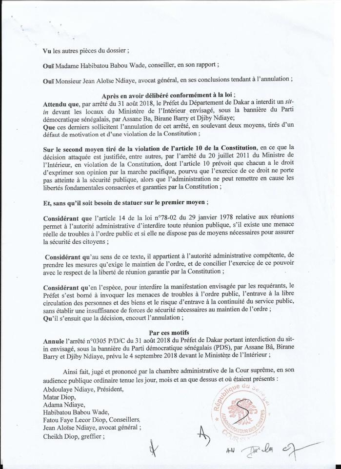 Sit in devant le ministère de l'Intérieur le 4 Septembre dernier : La Cour suprême donne finalement raison au FRN