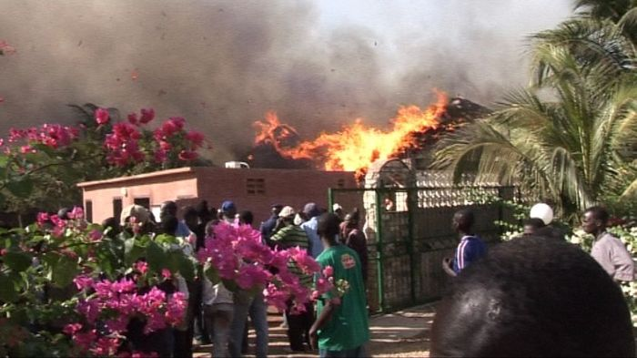 Photos exclusives de l'incendie d'hier à Saly