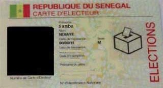 Les Sénégalais invités à retirer leur carte d'électeur