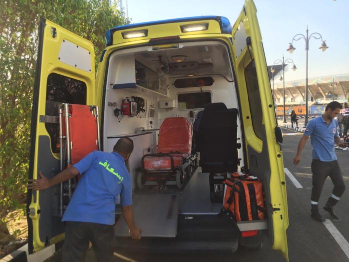 Mesure de prévention : Une ambulance médicalisée surveille les entraînements quotidiens des Lions au Caire