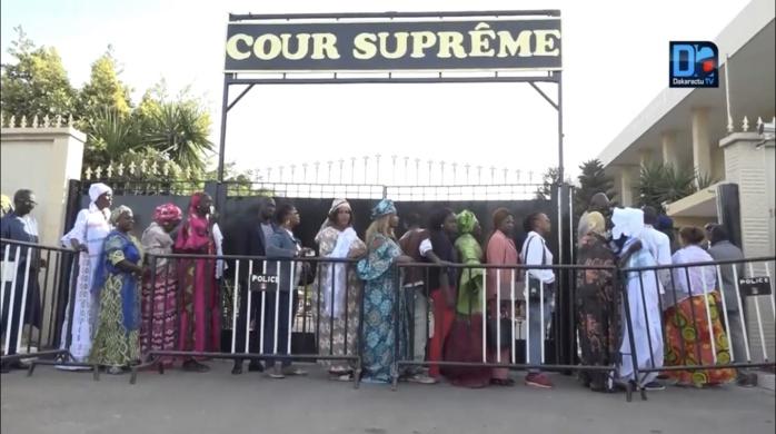 Cour suprême : Timide mobilisation des soutiens de Khalifa Sall face à une forte présence des forces de l'ordre