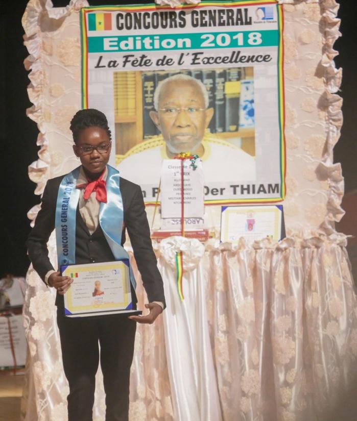 Résultat du concours général 2019 : Mademoiselle Diary Sow devrait certainement rempiler au classement du meilleur élève de cette année.
