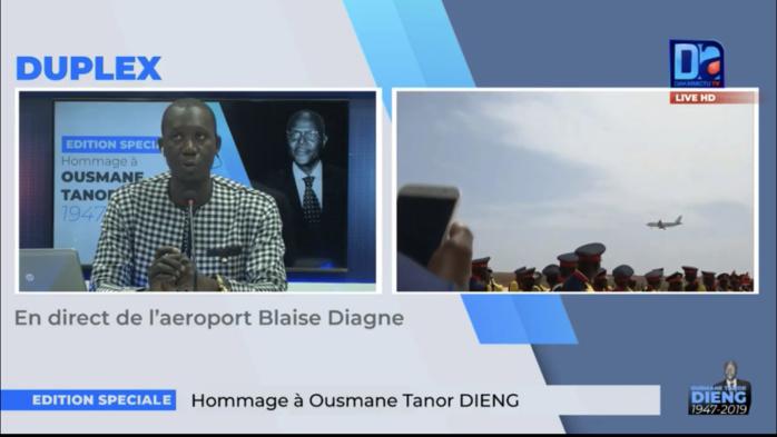 AIBD : L'avion transportant la dépouille de Ousmane Tanor Dieng vient d'atterrir