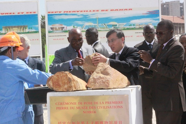 Cérémonie de pose de la première pierre du musée des civilisations noires (PHOTOS )