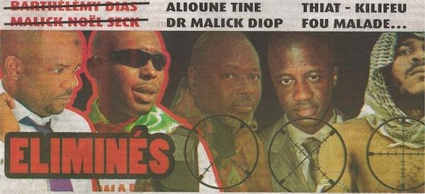 """Alioune Tine, Malick Diop et les leaders de """"Y en A Marre"""" sur la liste noire du Pds."""