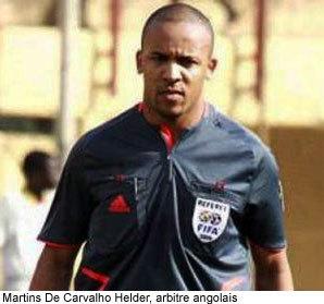 L'Angolais Helder De Carvalho rayé de la liste des arbitres internationaux