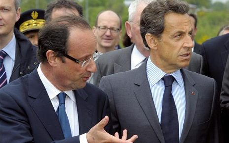 "France: Hollande qualifie Sarkozy de ""sale mec""."