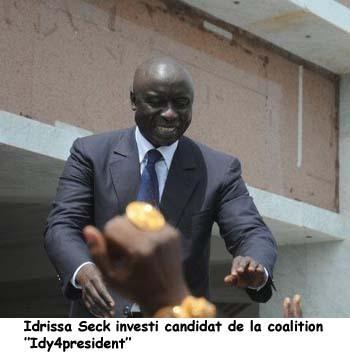 Le discours d'investiture de Idrissa Seck