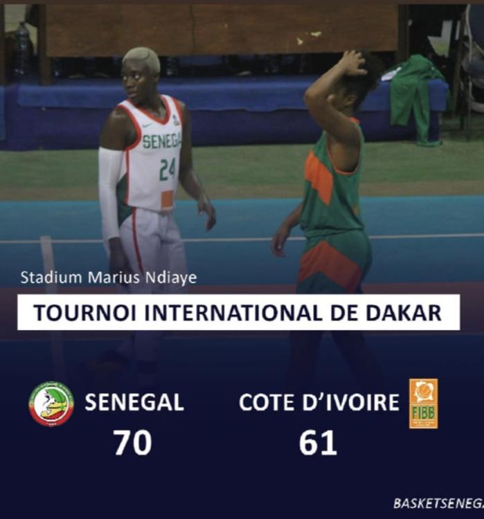 Basket/Tournoi de Dakar :  Le Sénégal s'impose par 9 points d'écart face à la Côte d'Ivoire (70-61)