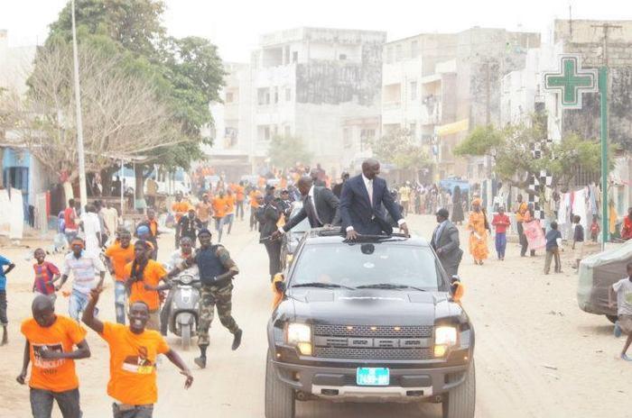 Idrissa Seck, le candidat doté de la plus lourde sécurité. La preuve en images...