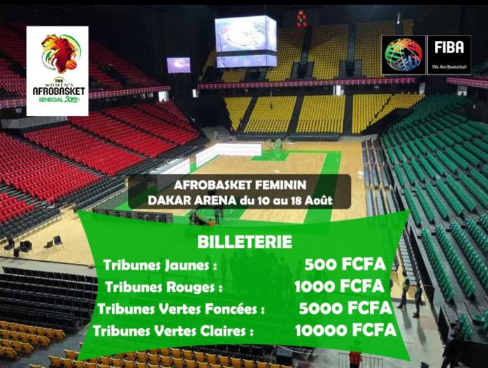 Afrobasket Féminin 2019 / Billetterie : La FIBA dévoile ses prix, 500 à 10 000 FCFA pour accéder au Dakar Arena
