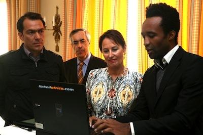 Ségolène Royal s'enthousiasme pour le premier réseau social professionnel  africain sur internet : www.linkedafrica.com