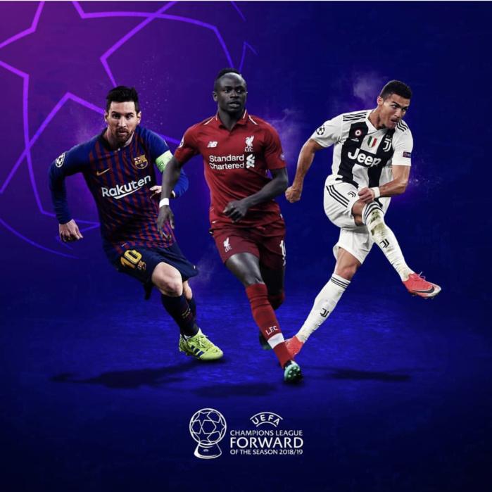 Meilleur joueur de la ligue des champions 2018-2019 : Sadio Mané parmi les nominés en compagnie de Messi, CR7 et Cie...