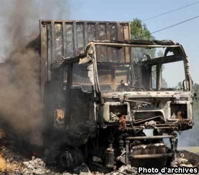 Bignona : un camion brûlé dans une attaque armée à Baïla