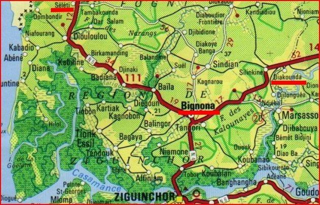 Bignona : cinq militaires blessés dans l'explosion d'une mine