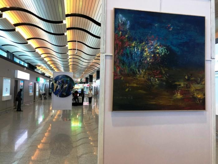Diass : Solo Cissé expose une trentaine de ses œuvres pendant 5 jours à l'AIBD