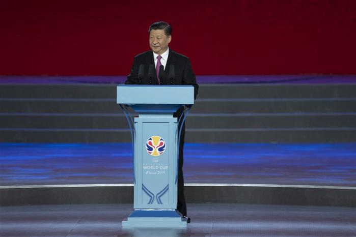 Coupe du Monde FIBA Chine 2019 : Le président Xi Jingping procède à l'ouverture officielle.