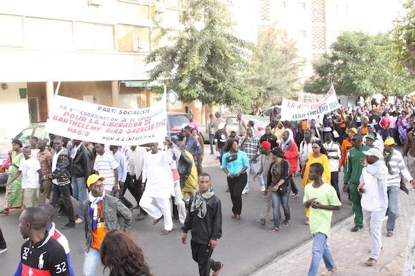 Marche des jeunes du M23 pour exiger la libération de Barthélémy Dias