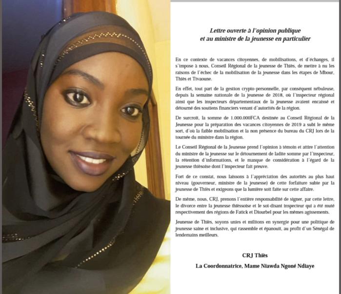 Mbour : L'inspecteur régional de la jeunesse de Thiès et ses départementaux accusés de détournement