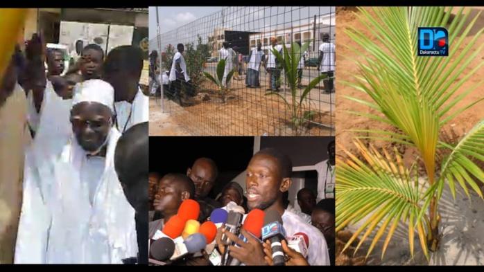TOUBA / Le Khalife plante le premier des 1000 cocotiers apportés par Touba Ça Kanam et appelle les populations à prendre part au reboisement.