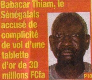 Accusé de complicité de vol, Babacar Thiam libéré après deux mois de détention