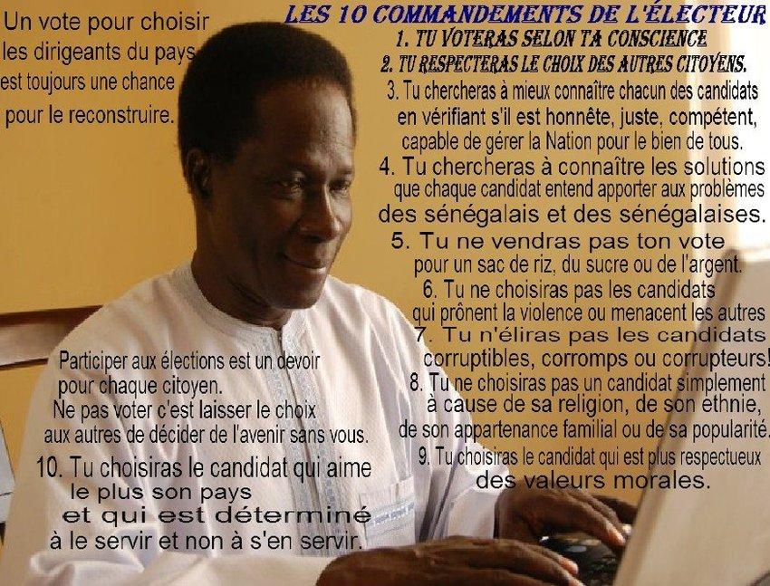 Sénégal : Les 10 commandements de l'électeur ! (Le Patriote )