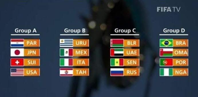 Coupe du monde Beach soccer :  Le Sénégal dans la poule C avec la Biélorussie, les Émirats arabes unis et la Russie
