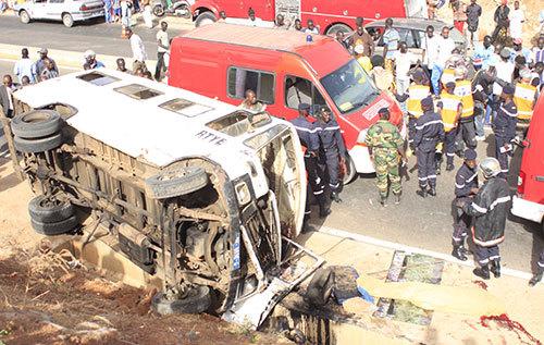 Petit Mbao / Dakar : Un accident fait 3 morts et plusieurs blessés.