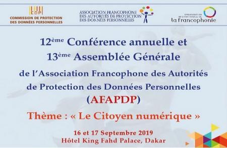 Protection des données personnelles : ''Le citoyen numérique'' au cœur d'une assemblée des autorités francophones à Dakar