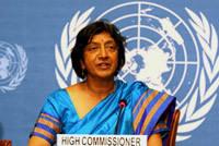 """Sénégal: Navi Pillay, haut commissaire des Nations-unies aux droits de l'homme, exhorte le gouvernement et les candidats à """"renoncer à la violence"""""""