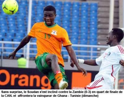 La Zambie bat le Soudan et se qualifie en demi-finale
