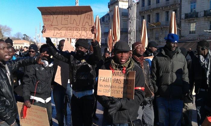 Manifestation anti-Wade d'un collectif créé à Montpellier