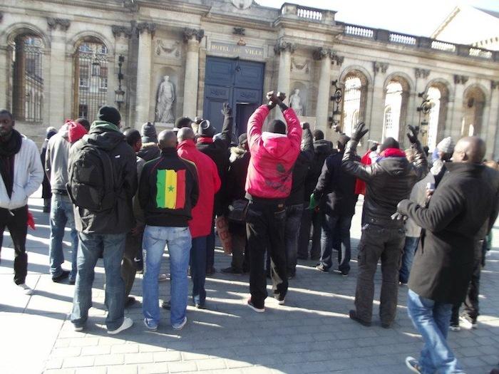 Manifestation des Sénégalais à Bordeaux