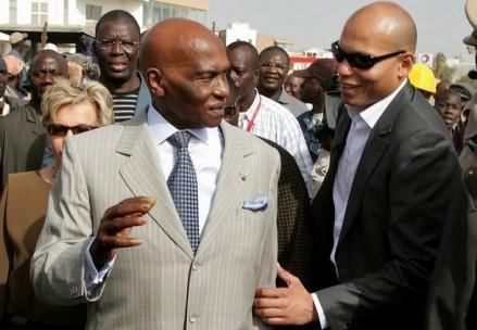 """Abdoulaye Wade sur Karim Wade: """"J'ai un fils qui a une formation qu'on trouve rarement""""."""