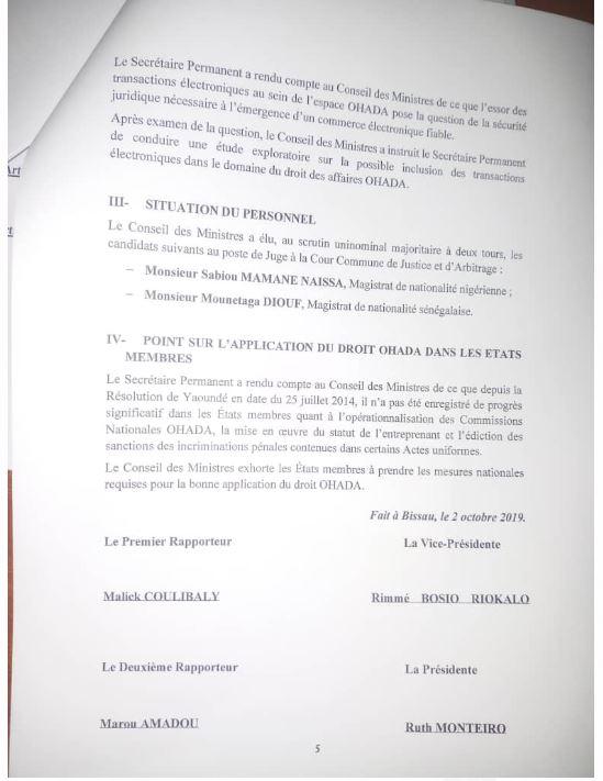 Conseil des ministres des pays membres de l'Ohada : Le juge Mountaga Diouf élu juge à la Cour commune de justice et d'arbitrage (CCJA)