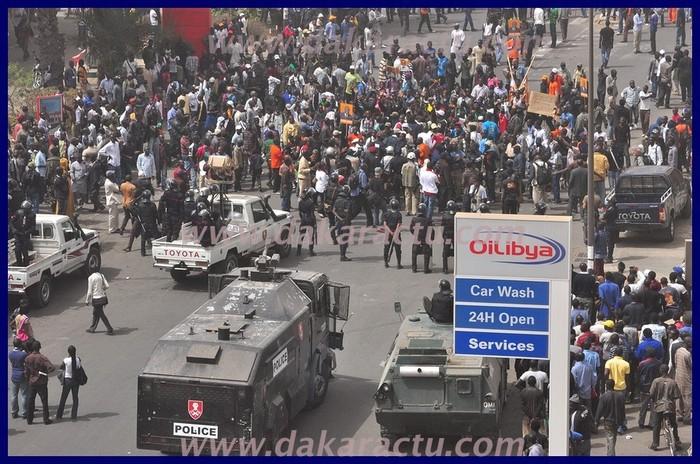Le face-à-face police - M23 qui a poussé les manifestants à rebrousser chemin